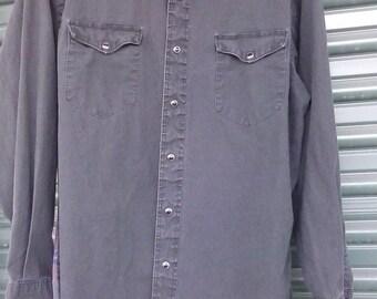 Wrangler retro cowboy shirt -M-