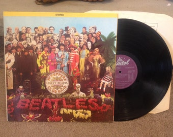"1967 Beatles ""St. Peppers Lonely Hearts Club Band"" Stereo Album record"