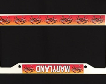 Maryland Flag Crabs License Plate Frame