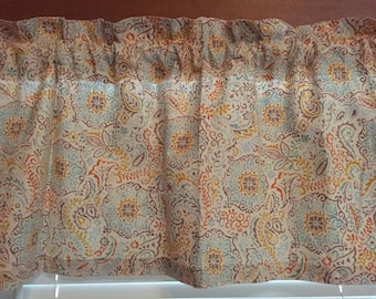 """Waverly Inspirations Medallion Leaves Window Valance ~ 42"""" Wide"""