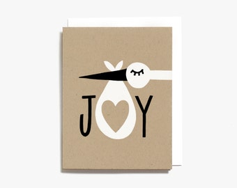 Bundle of Joy - New Baby Card - Screen Printed Greeting Baby Card