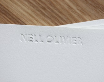 Inkless Personalised Correspondence Cards
