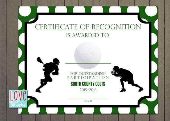 Lacrosse sports award certificate 85 x 11 printable digital like this item yelopaper Choice Image