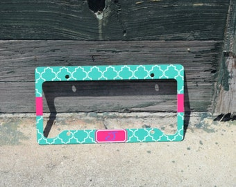 Custom personalized license plate cover - LICENSE PLATE  - plate cover - car tag cover