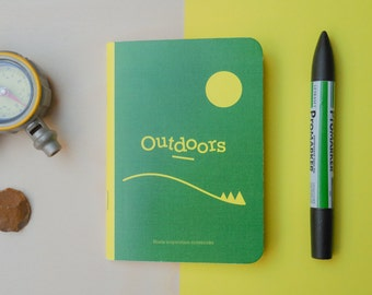Roels inpsiration notebooks - Outdoors edition with inspirational texts and illustrations