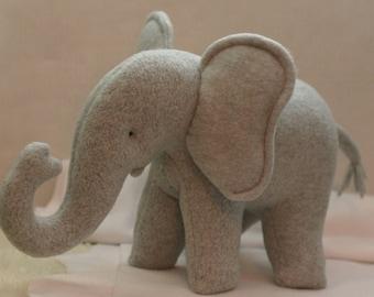 Fleece stuffed animal elephant