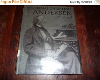 on sale Hans Christian Anderson and His World Vintage 1970s Library Book