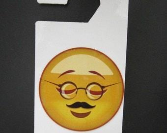 Emoji Grandpa Sleeping Face Do not disturb door hanger.