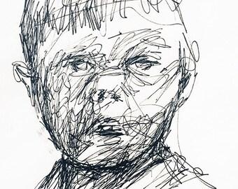 Sketch Baby - Original Pen drawing
