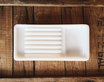Vintage Milk Glass Dental Tray