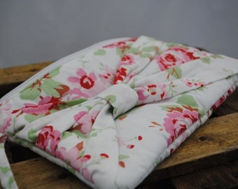 Bow Clutch Bag - Floral fabric handbag, handmade (UK based)