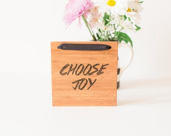 Choose Joy #1//Bamboo Sign