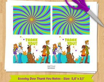 INSTANT DOWNLOAD Scooby Doo thank you notes