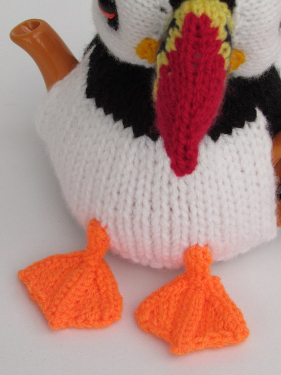 Puffin Tea Cosy Knitting Pattern from TeaCosyFolk on Etsy Studio