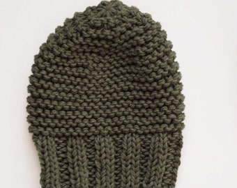 2 Available//Kids Thick Knit Slouchy beanie// READY TO SHIP