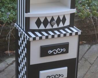 Black and White Nightstand