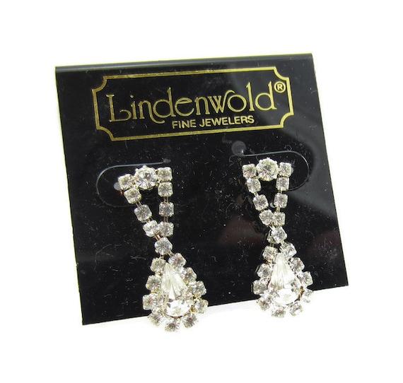 lindenwold fine jewelers rhinestone dangle earrings silver