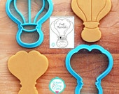 Hot Air Balloon Cookie Cutter Fondant Cutter - **Guideline Sketch To Print Below**