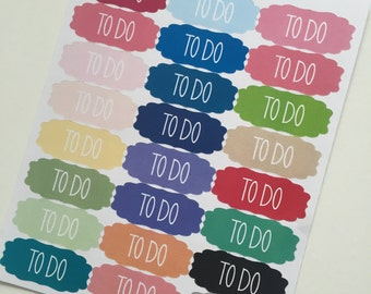 Scalloped To Do Planner Stickers by Ella Couture by Jessica