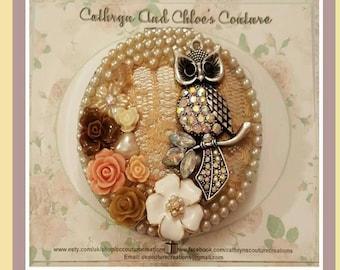 Decorative Compact Mirror in Owl design