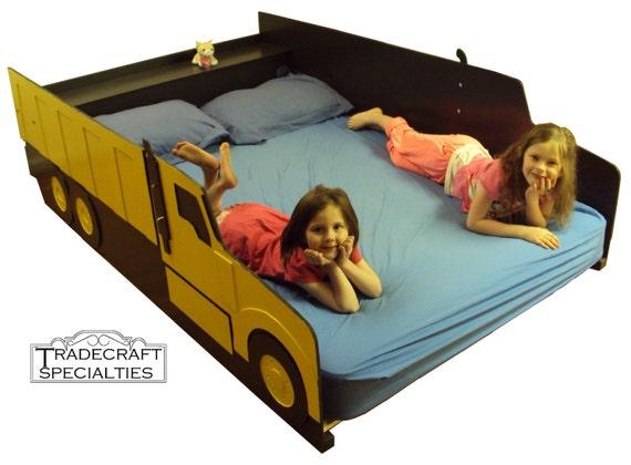Truck full size kids bed frame handcrafted by tradecraftspec - Kids dump truck bed ...