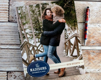 Wedding Guest Book Photo Guest Books Picture Guestbooks Personalized Modern Guestbook Navy Wedding Keepsakes Graduation Sign In Books