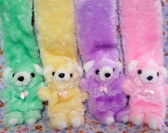 Pastel SPANK! style kitsch furry TEDDY SCARF