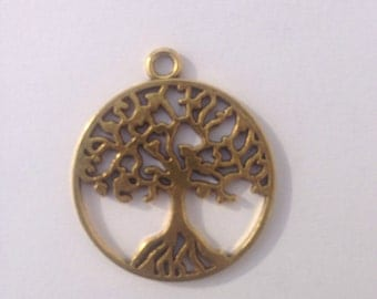 Celtic Tree of Life - Peace Tree Pendant, Gold finish, for jewellery making