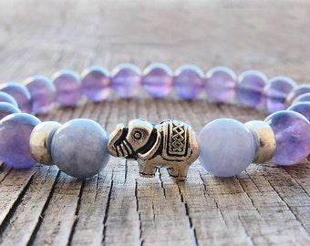 February Birthstone Jewellery Meditation bracelet Amethyst bracelet Mala Bracelet Yoga Bracelet Gemstone Bracelet Girlfriend gift for her