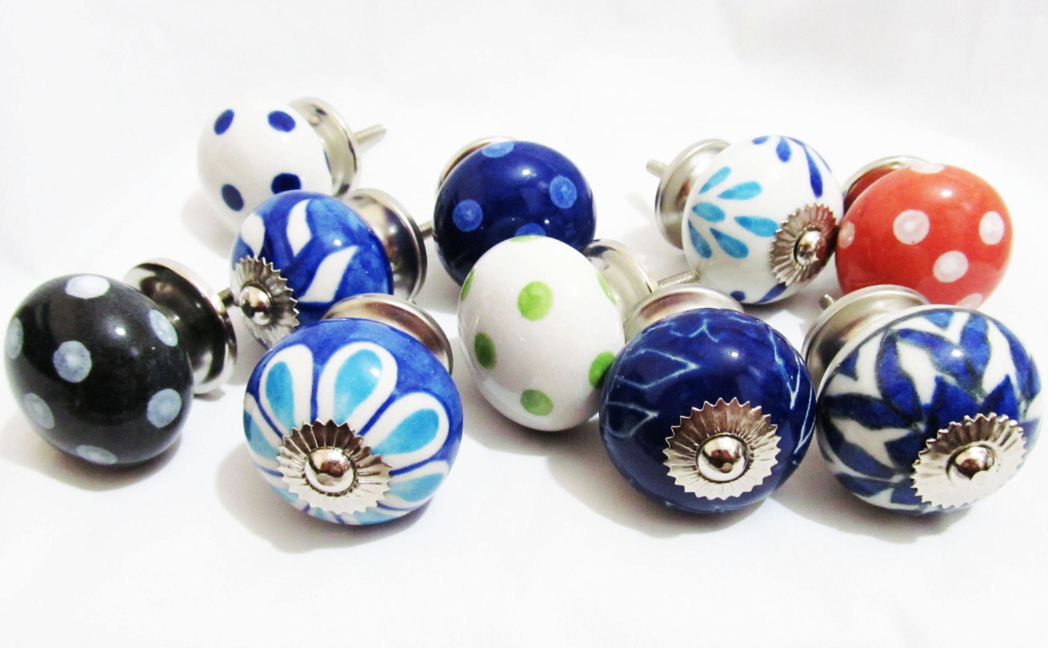 10 x vintage look french style ceramic knobs door by for French door knobs