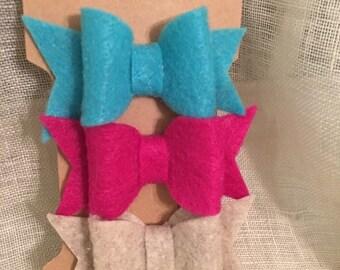Set of 3 Felt Bows