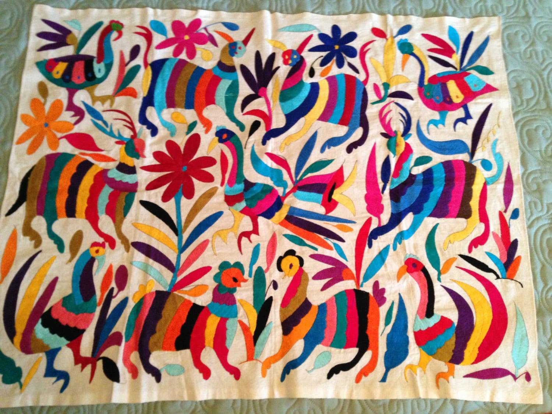 Mexican Otomi Fabric Home Decor