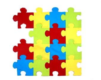 Tessepatch jigsaw patchwork precut paper shapes x75