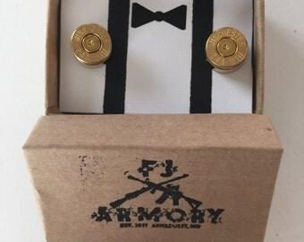 243 Winchester Bullet Cufflinks