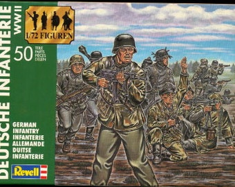 Revell German Infantry Plastic Soldiers in Box