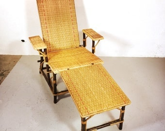 Vintage reclining  lounge chair.