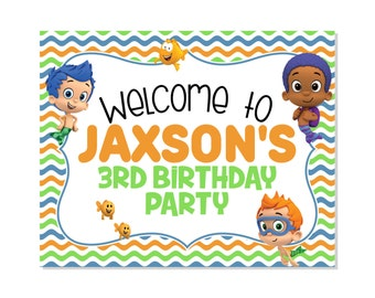 Bubble Guppies Printable Party Sign