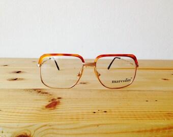 David Clark Square Glasses/NOS Dead Stock Americana Glasses/Marcolin Glasses/Reading Glasses/Oversized Glasses/Tortoise Glasses