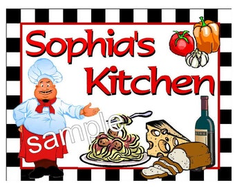 Personalized Fat Chef Kitchen MAGNET ~ FREE SHIPPING