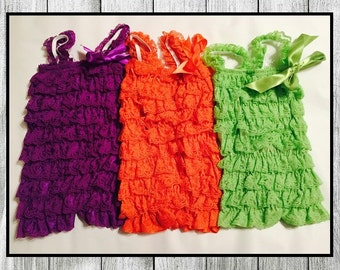 Baby Toddler Petty Ruffle Rompers Sizes 0-12 Months * 3 Rompers *