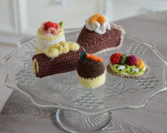 Crochet pastry, pie, petit fours | 5 pieces