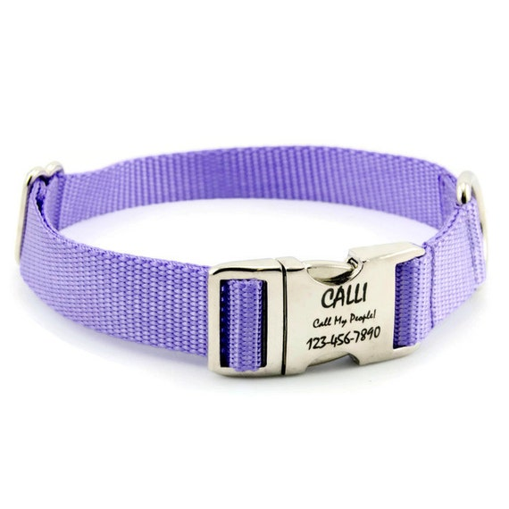 Shop custom dog collars handmade by Mimi Green. Cool dog collars with name plate engraving, cool accessories & leash designs. Show off your dog's unique style with our line of designer collars, leashes and accessories. Shop 24/7 - Made in the USA!