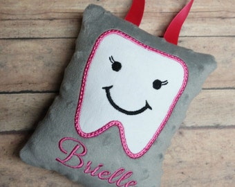 Tooth Fairy Pillow - Personalized Tooth Fairy Pillow - Tooth Fairy Pillow for Girls - Minky Tooth Fairy Pillow - Custom Tooth Fairy Pillow