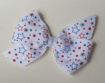 4th of July Patriotic Independence Day Pinwheel Bow