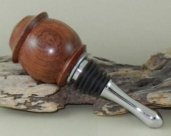 Bocote Wood Teardrop Bottle Stopper