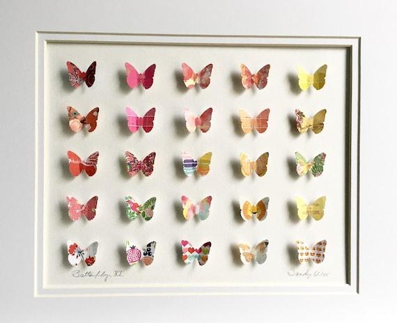 Beautiful Xi 3d Butterfly Paper Art 11x14