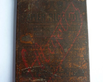 antique french tin, papier rigollot