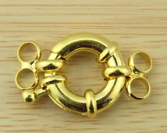 High Quality, 2 row   Jewelry Clasp,5 Pcs Steering Wheel Clasps Connector,Golden Plated Clasp,Necklace/Bracelet Clasp,Clasp Findings--CL004