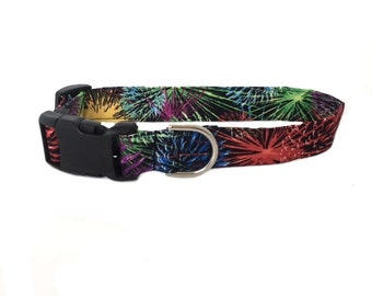 Dog Collar Fireworks 4th of July