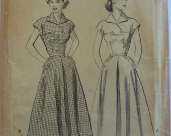 Vintage Sewing Pattern. Butterick 6105. Dress pattern FF unused.